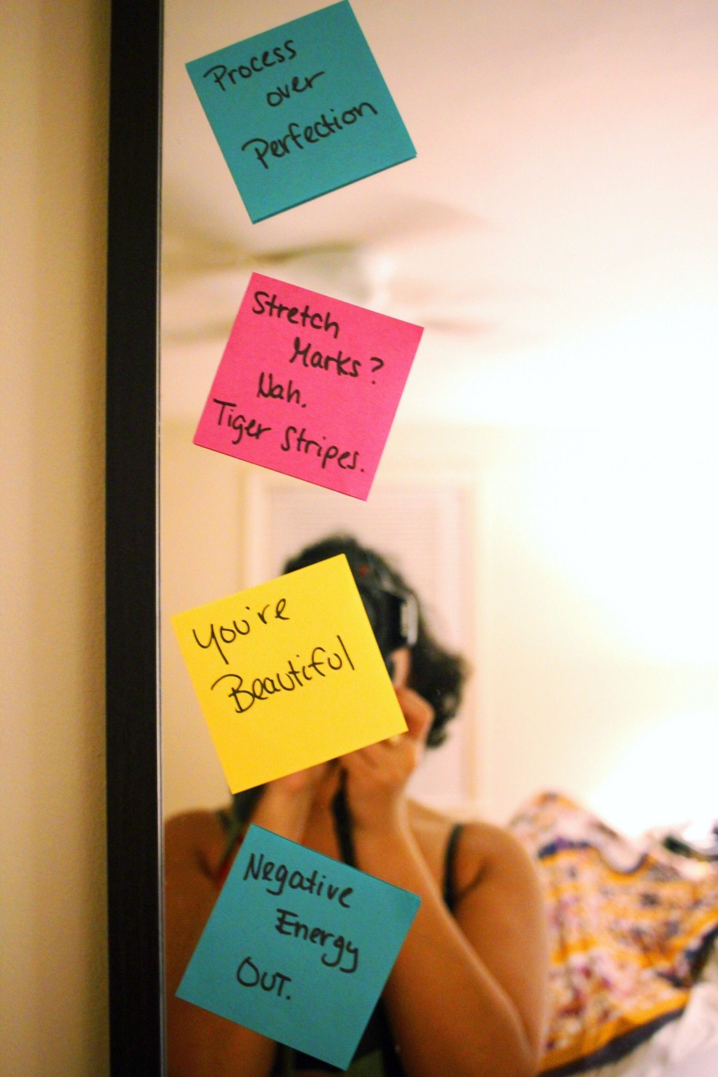 Post It Affirmations On My Mirror As A Daily Reminder in 12 ...