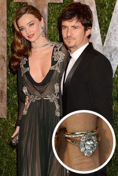 Miranda Kerr S Antique Style Engagement Ring Diamond Wedding