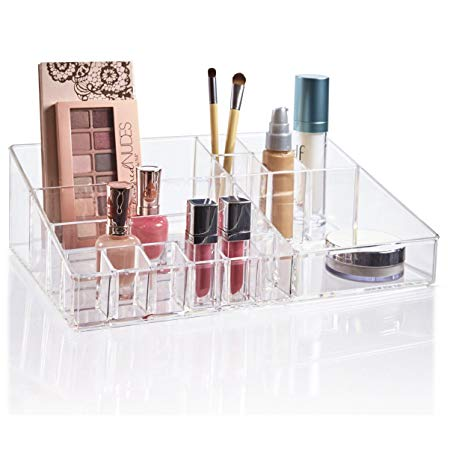 Stori Premium Quality Clear Plastic Cosmetic And Makeup Palette Organizer Audrey Collection In 2020 Makeup Palette Organization Palette Organizer Cosmetic Organizer