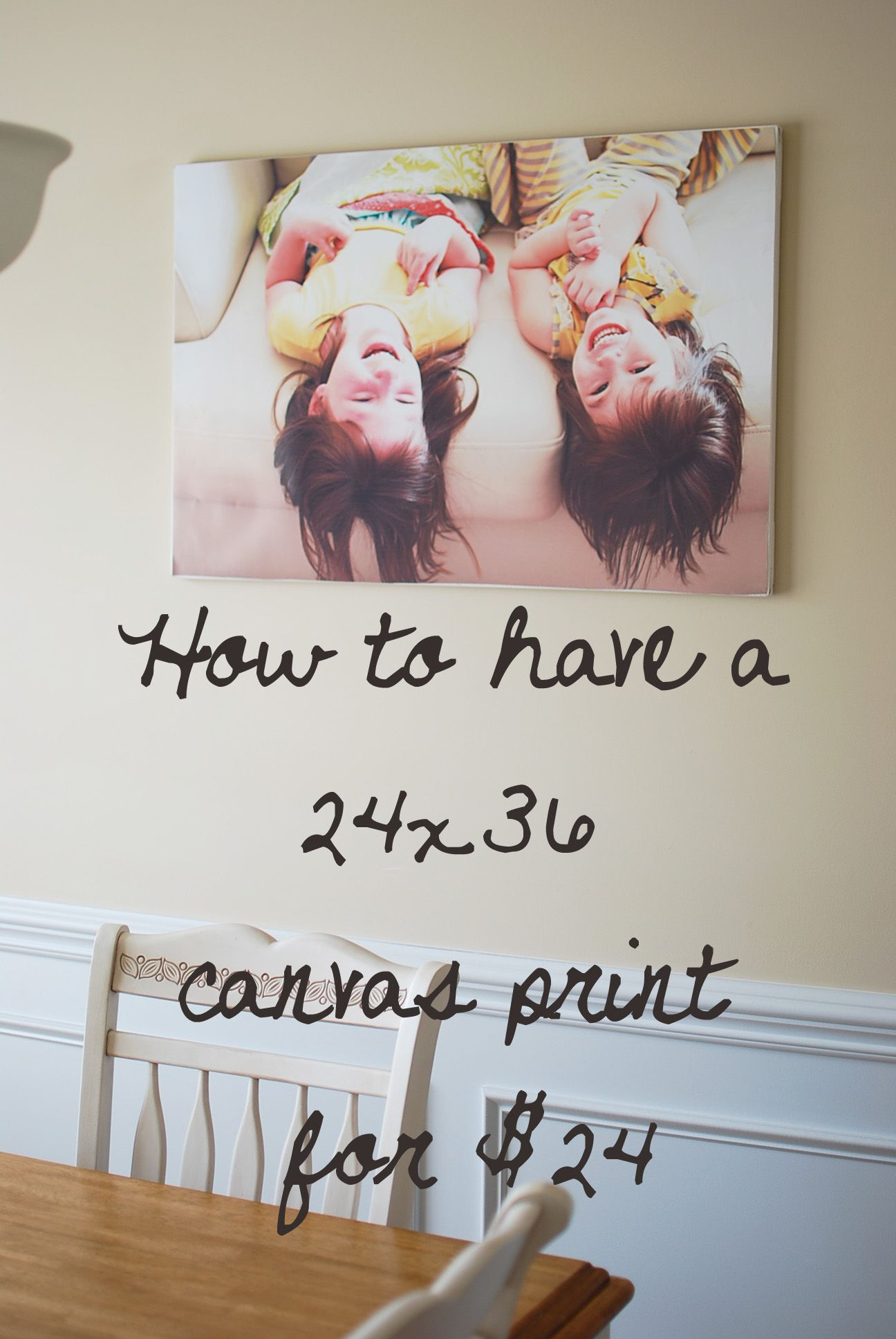 Cheap Photo Canvas I Wanted To Decorate My Walls So I Got Frugal For The