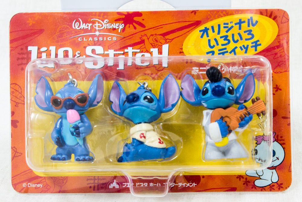 Disney Lilo & Stitch Figure Charm w/hook Set JAPAN ANIME