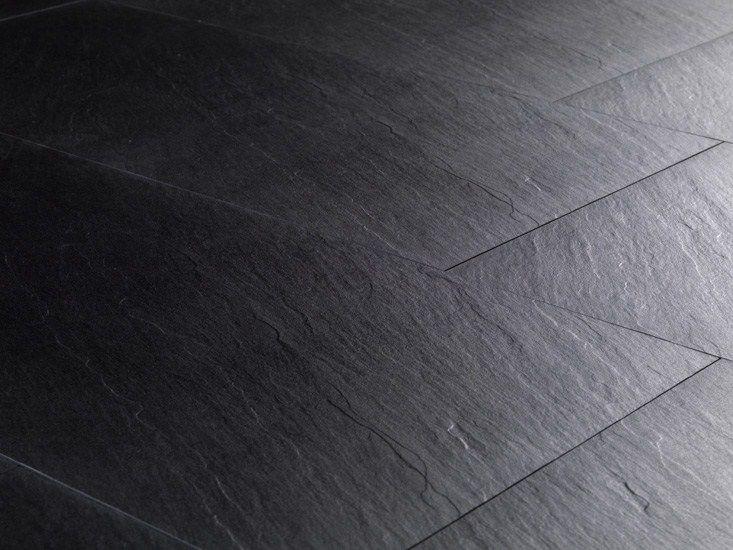 Revetement De Sol Mur En Gres Cerame Pleine Masse Effet Pierre Pietre High Tech Black Ardesia By Ariostea Flooring Wall And Floor Tiles Tile Floor