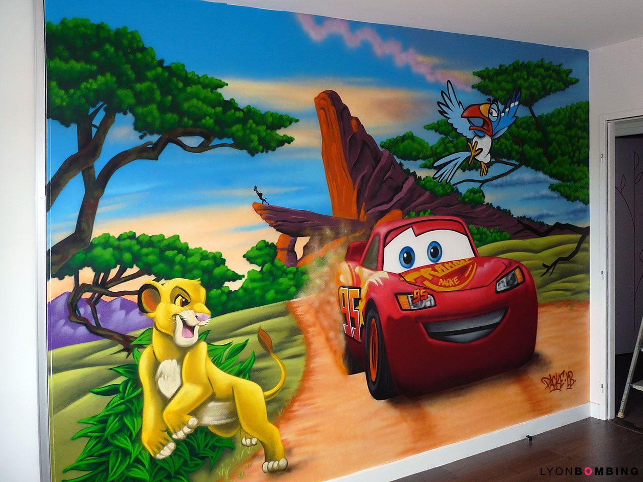 Chambre Cars VS Le Roi Lion - Chambre  Chambre bébé roi lion