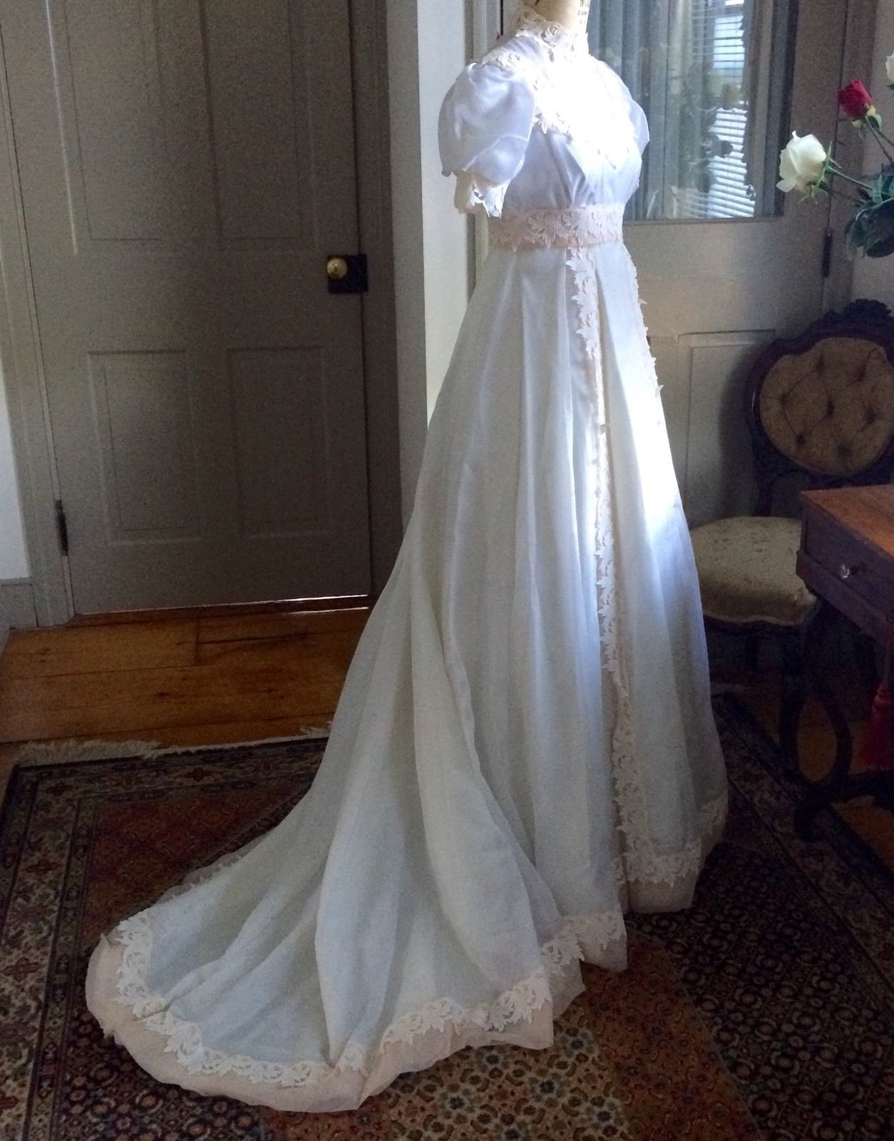 Vintage 1970s Alfred Angelo Wedding Dress, Never Worn