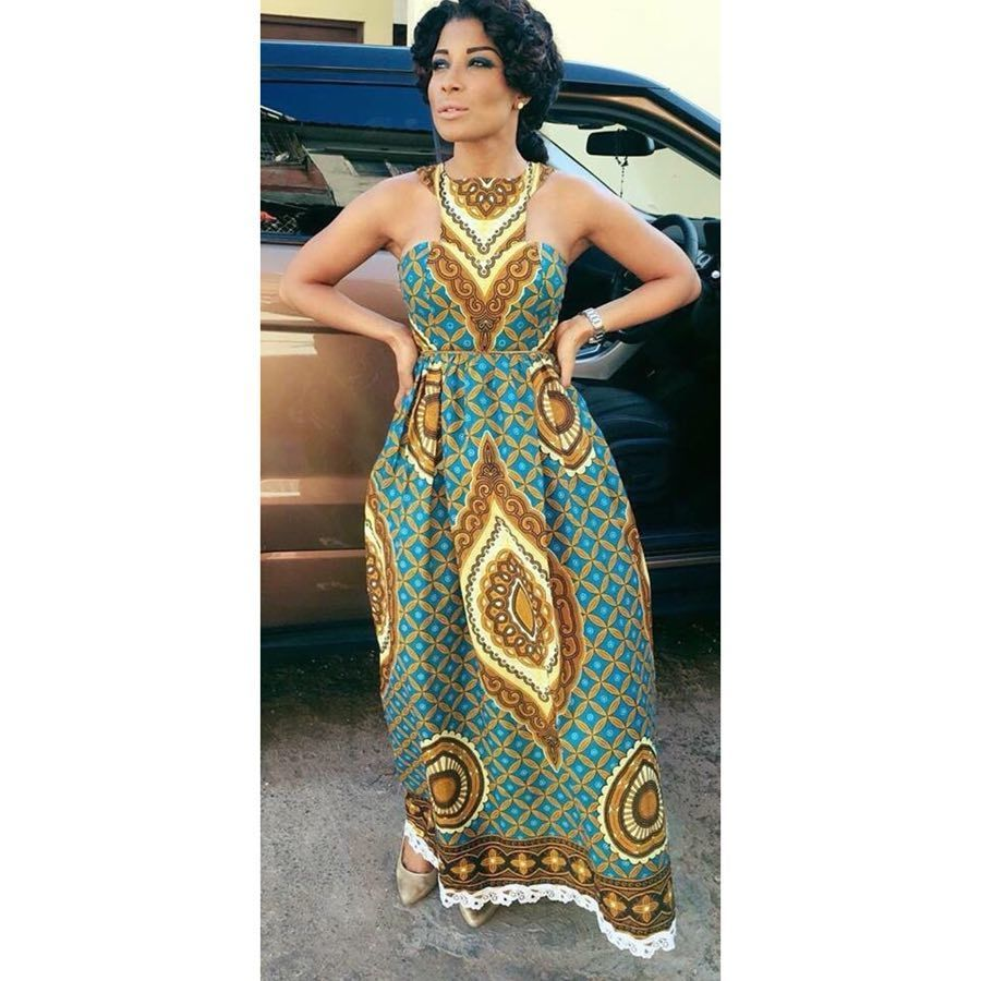 30 Best Kitenge Designs for Long Dresses 2019 Kitenge Styles
