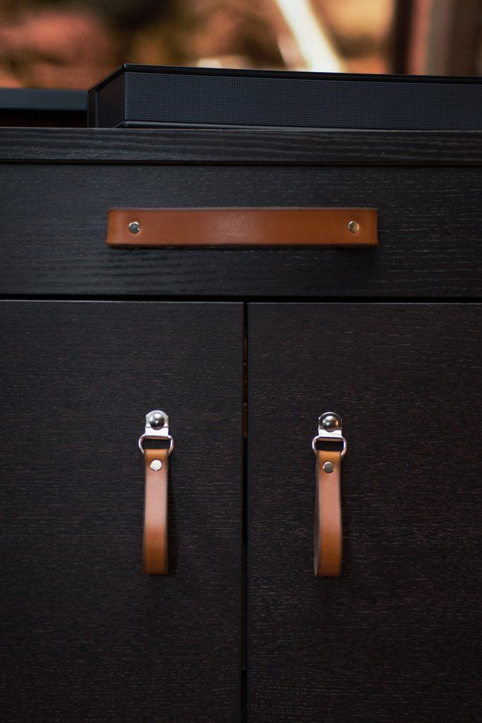 Leather Drawer Pull - The Burnside (Large) | Routine, Luxury and Leather