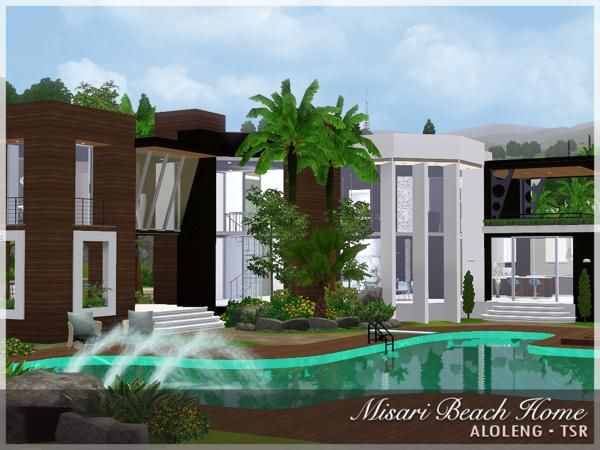 Modern beach house sims 3 images for Beach house 3 free download