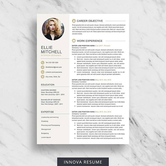 Resume Template With Photo Photo Resume CV Template for Word 1 - download resume template