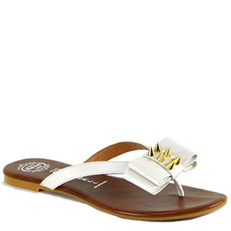 4199750f0cf Bowie Stud White Leather Spike Thong Sandal | shop | Sandals, Bow ...