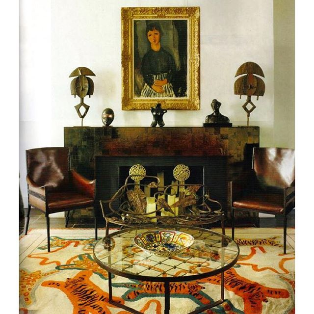 An Interior Designed By Jacques Grange Carinilang Icon Design
