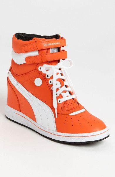 ff062c54acd Puma By Miharayasuhiro My 66 Wedge Sneaker Women in Orange (orange  white)  - Lyst