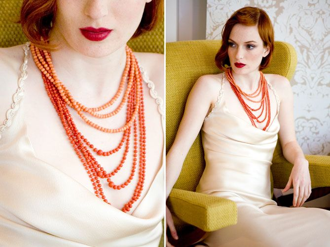 Beautiful coral necklaces