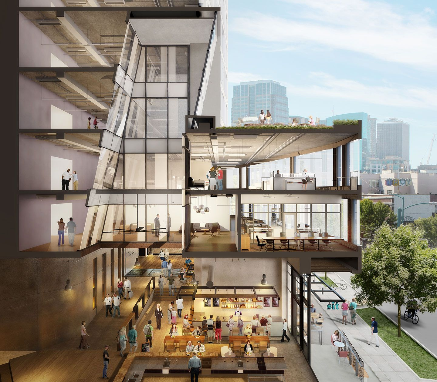 google office in seattle. 400 Fairview | Skanska New South Lake Union Office Project Google In Seattle O