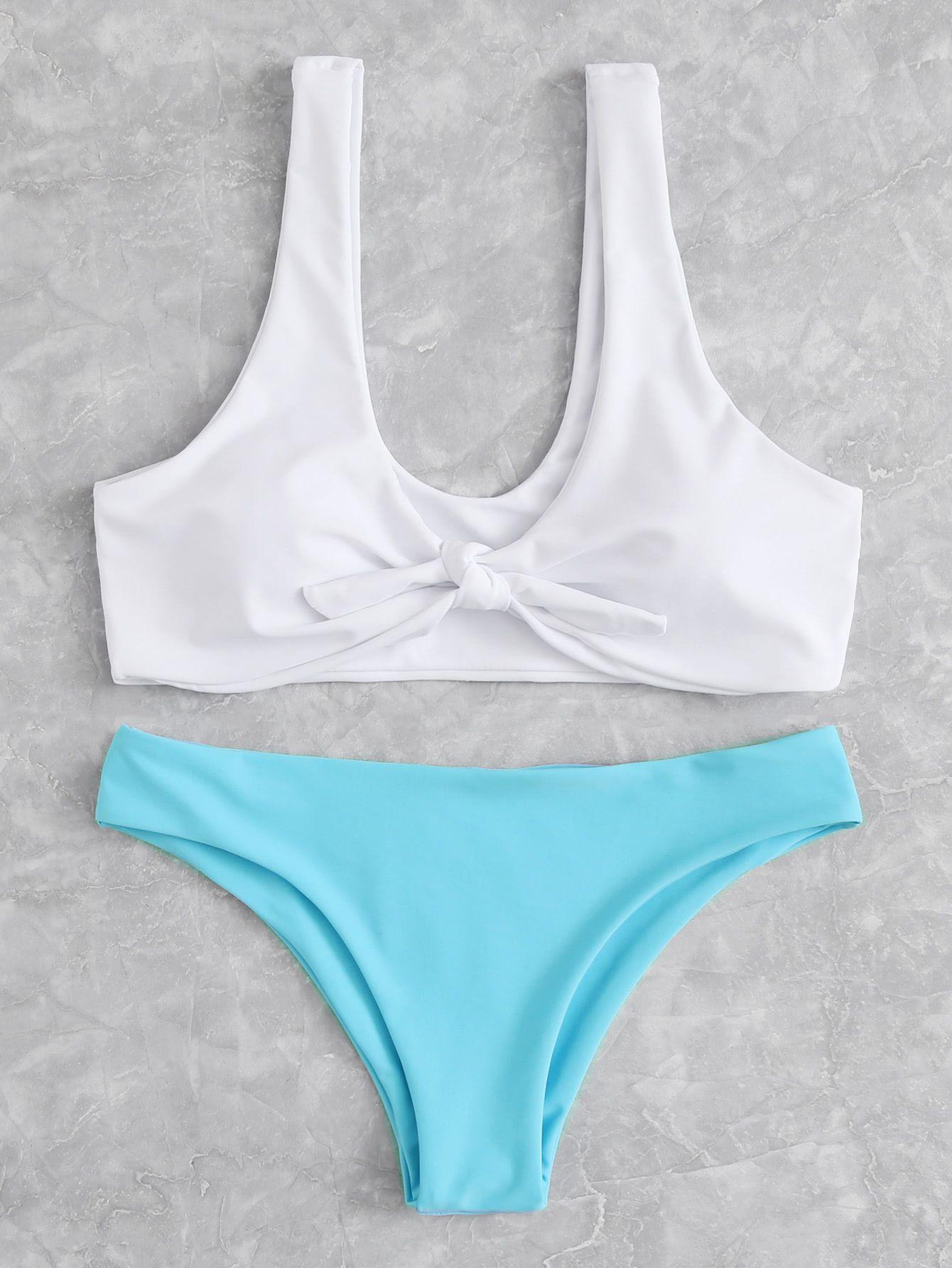 adfe2aaf0c Mix And Match Knot Bikini Set -SheIn(Sheinside) | Shopaholic ...