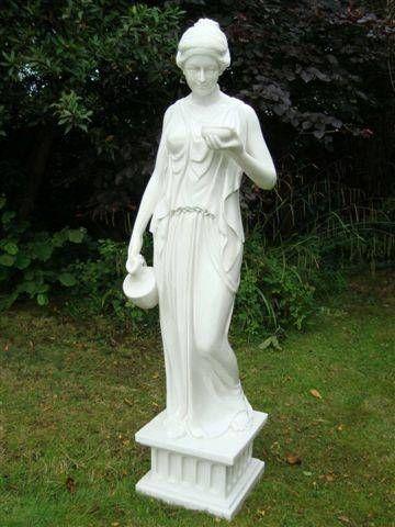 Small Enigma Hebe Goddess Marble Statue garden ornament for sale