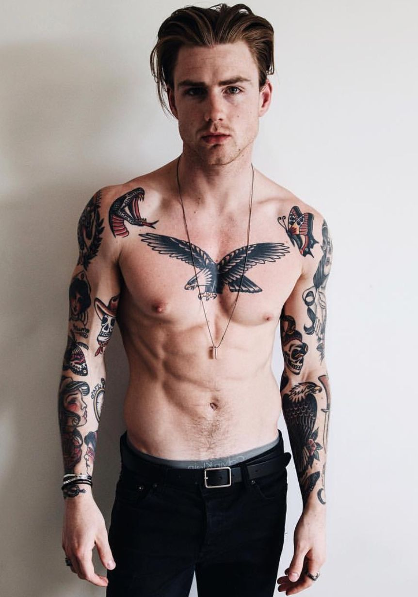 tattoos tattoo boy young cool thomas torso davenport boys mens bad male chest body rohayati awesome express yourself 3d eagle