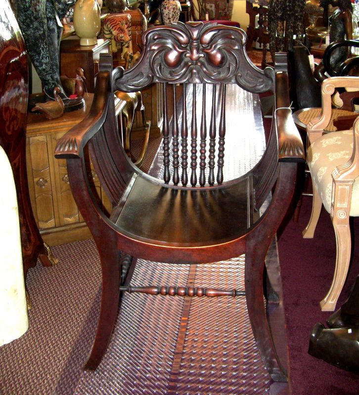 Antique Northwind Face Barrel Chair Circa Late 1800 – Early 1900 Made in Grand  Rapids, - Antique Northwind Face Barrel Chair Circa Late 1800 – Early 1900