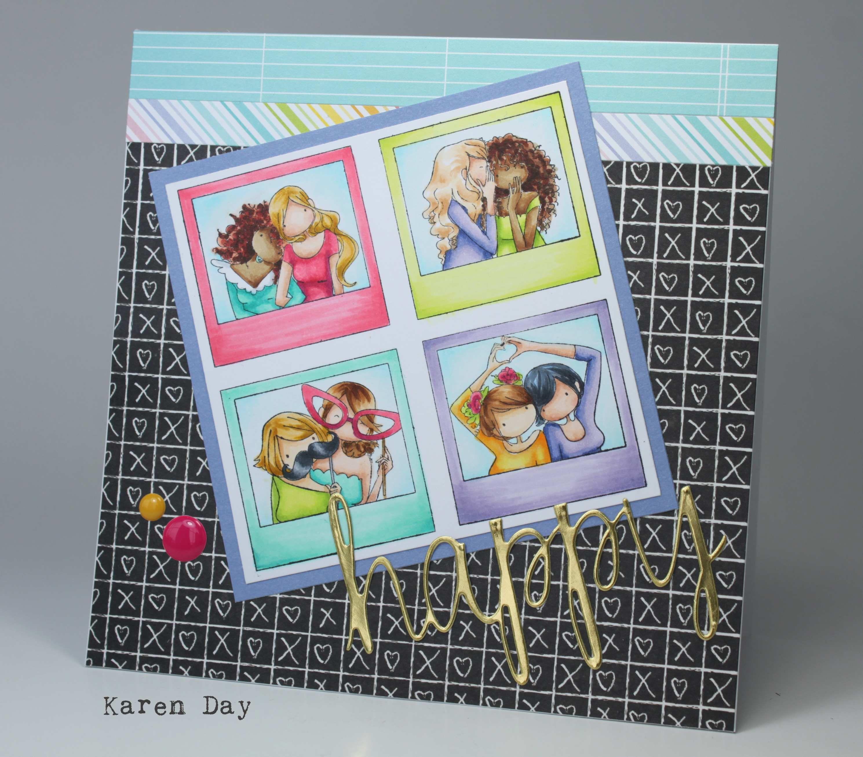 Stamping Bella Uptown Girl Snapshots Minis Cling Stamps