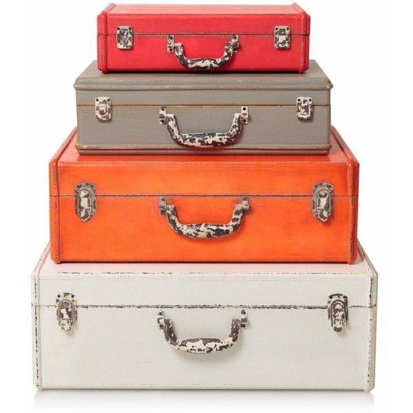 Ordinaire Decorative Storage Suitcase Found On Polyvore