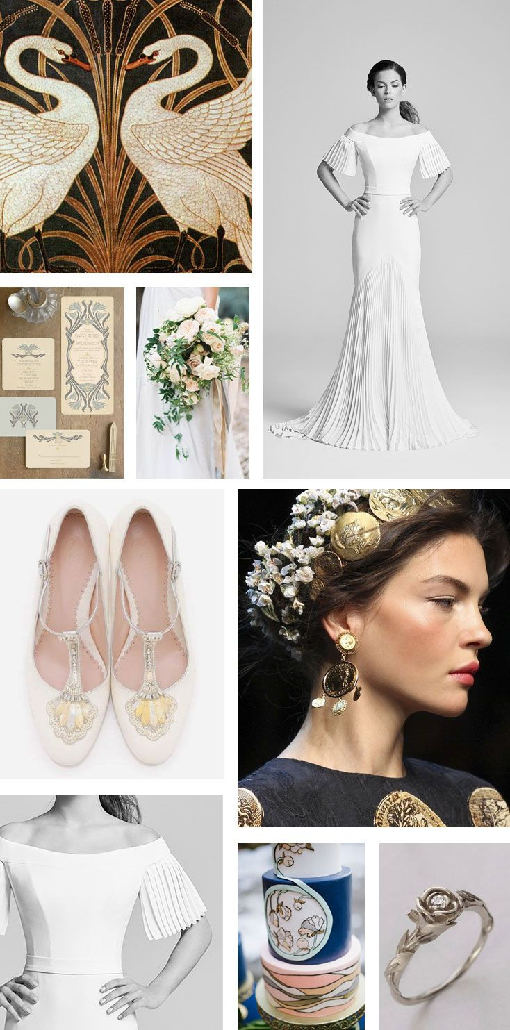 Monday Moodboard - Art Nouveau wedding dress inspiration | Bridal ...