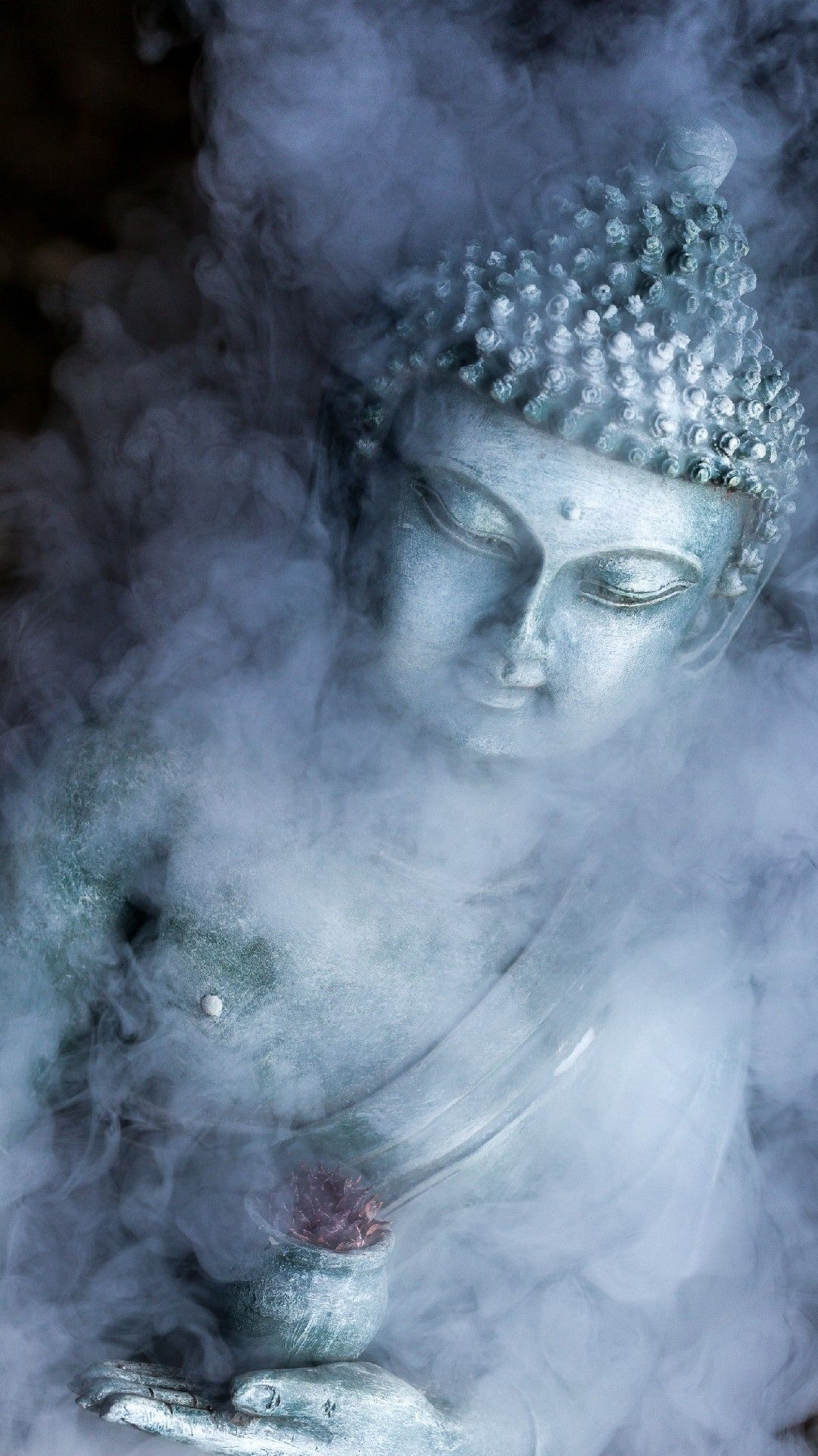 Buddha In Smoke Background Phone Wallpaper And Lockscreen Hd Check More At Https Phonewallp Com Buddha Wallpaper Iphone Buddhism Wallpaper Buddha Background