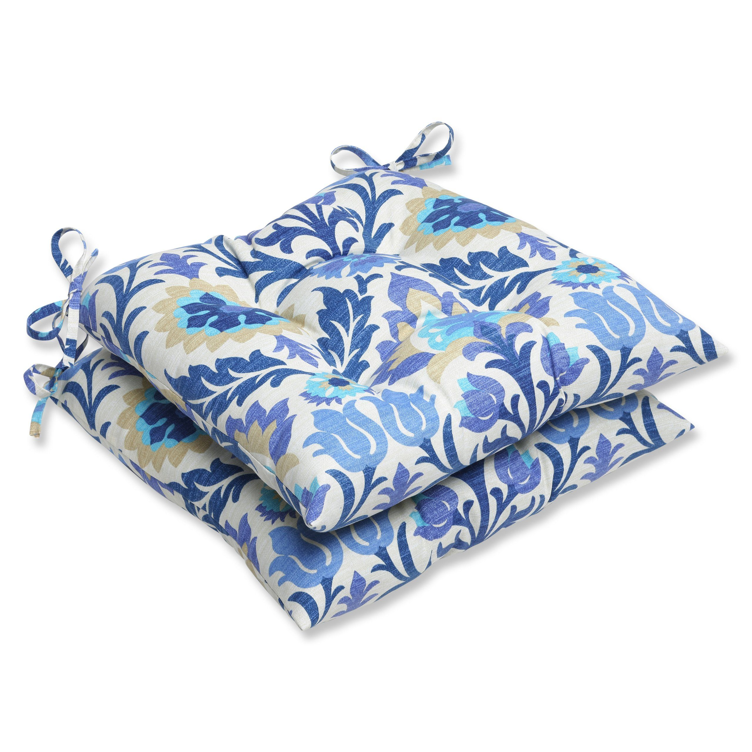 Pillow perfect outdoor santa maria wrought iron seat cushion azure