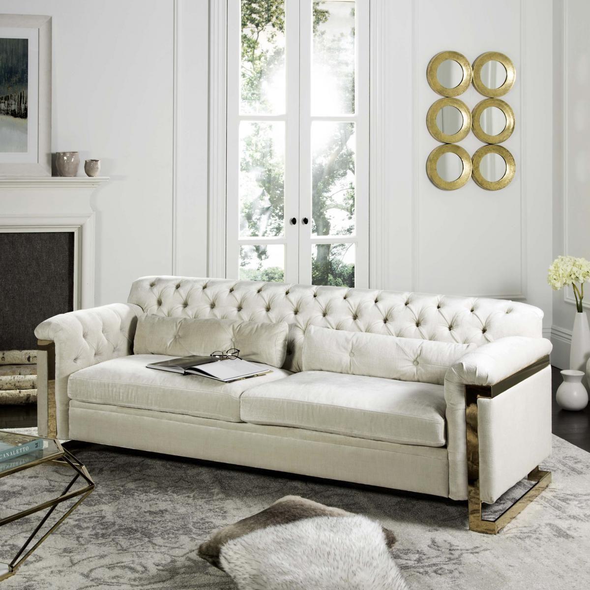 Knt7000c Safavieh Velvet Sofa Living Room Velvet Tufted Sofa Velvet Sofa