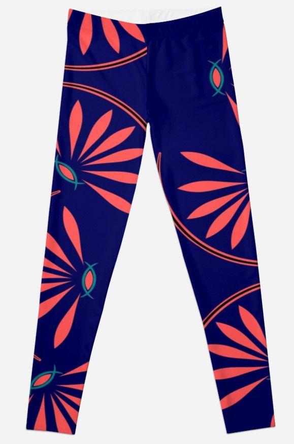 Art Deco Flower  by TangibleMoods #fashion #leggings #trendyfashion