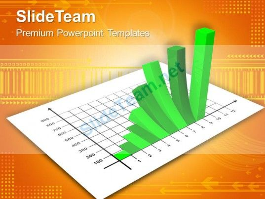Bar Charts And Graphs Green Powerpoint Templates Themes - graphs and charts templates