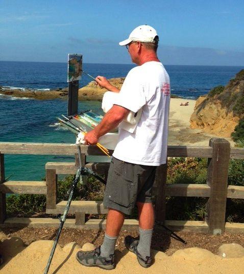 Treasure Island Laguna Beach: LPAPA Signature Member Mentor Paint Out At