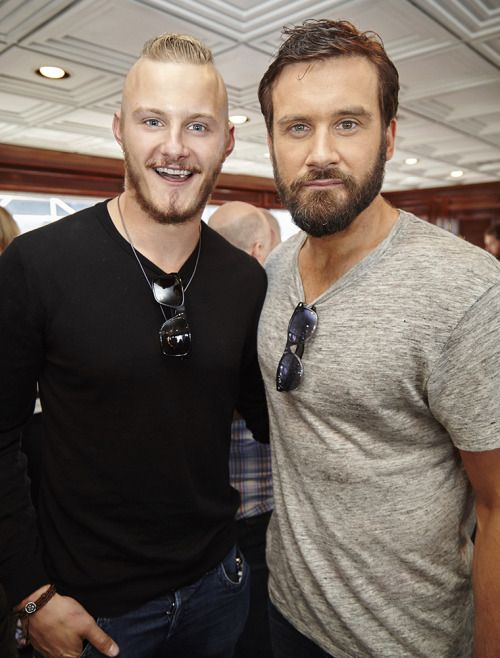 Vikings stars Travis Fimmel & Clive Standen showed some brotherly love aboard the TVGM yacht last week at Comic-Con.