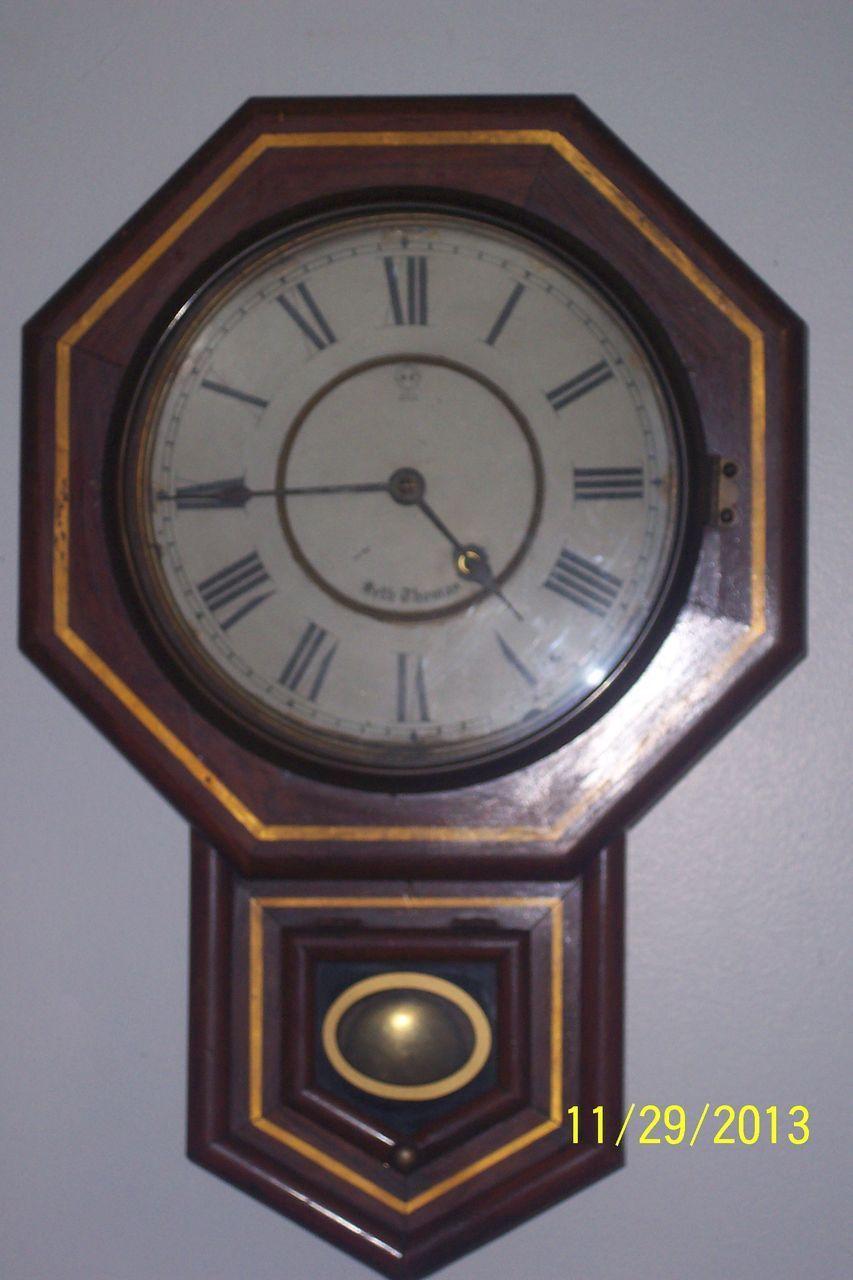 Antique Seth Thomas 1880 S Regulator Wall Clock Clocks