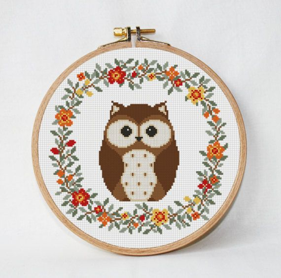 Owl baby cross stitch pattern pdf pattern unique baby gift Animals ...