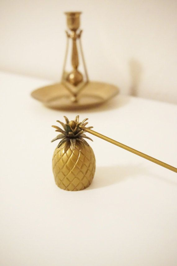 Candle Snuffer - Vintage Pineapple- Pineapple Decor - Hostess Gift - Pineapple Home Decor - Antique Candle Snuffer - Pineapple Candle