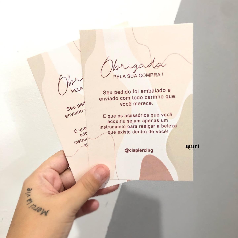 Uma Lindo Cartao De Agradecimento Feito Para A Cia Piercing Seus Clientes Vao Amar Esse Mi Cartoes De Agradecimento Etiquetas De Agradecimento Cartao De Lojas Modelos de cartas de agradecimento