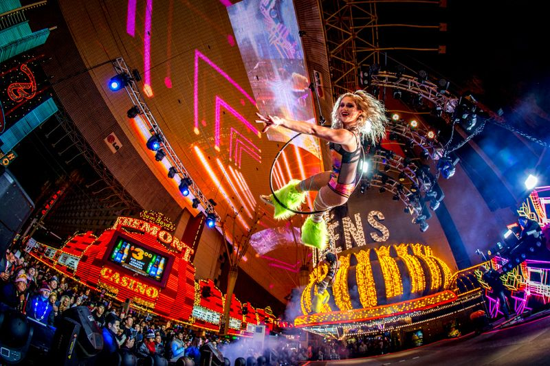 New Year's Eve at Fremont Street Experience in Downtown