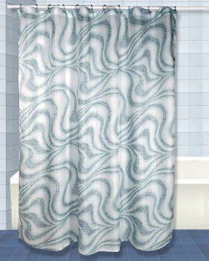 Tidal Fabric Shower Curtain Fabric Shower Curtains Curtains