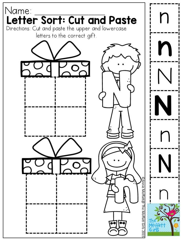 Letter Sort: Cut and Paste- Upper and lowercase letters
