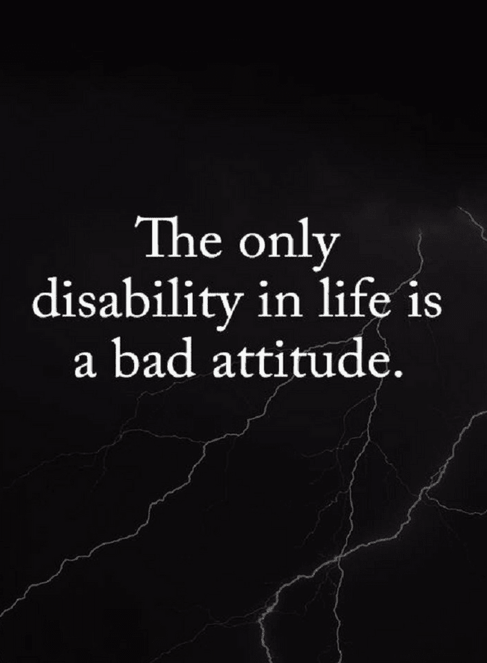 Quotes You could have all the opportunities and blessings in life but if you have a bad attitude,  - Quotes