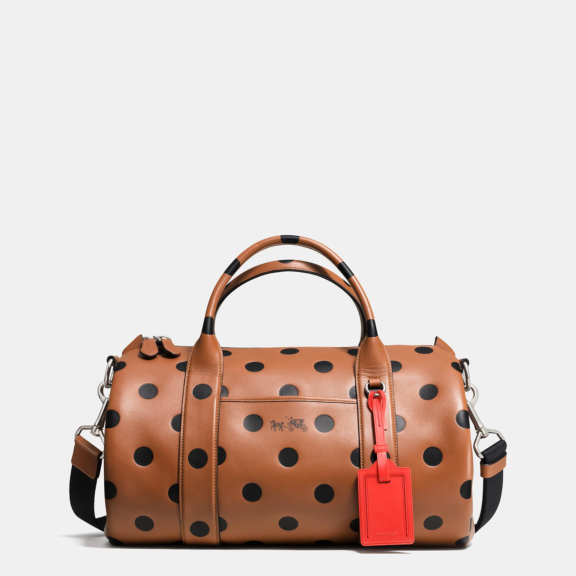 91e4cab9b COACH Designer Handbags | Small Barrel Bag In Saddle Dot Leather ...