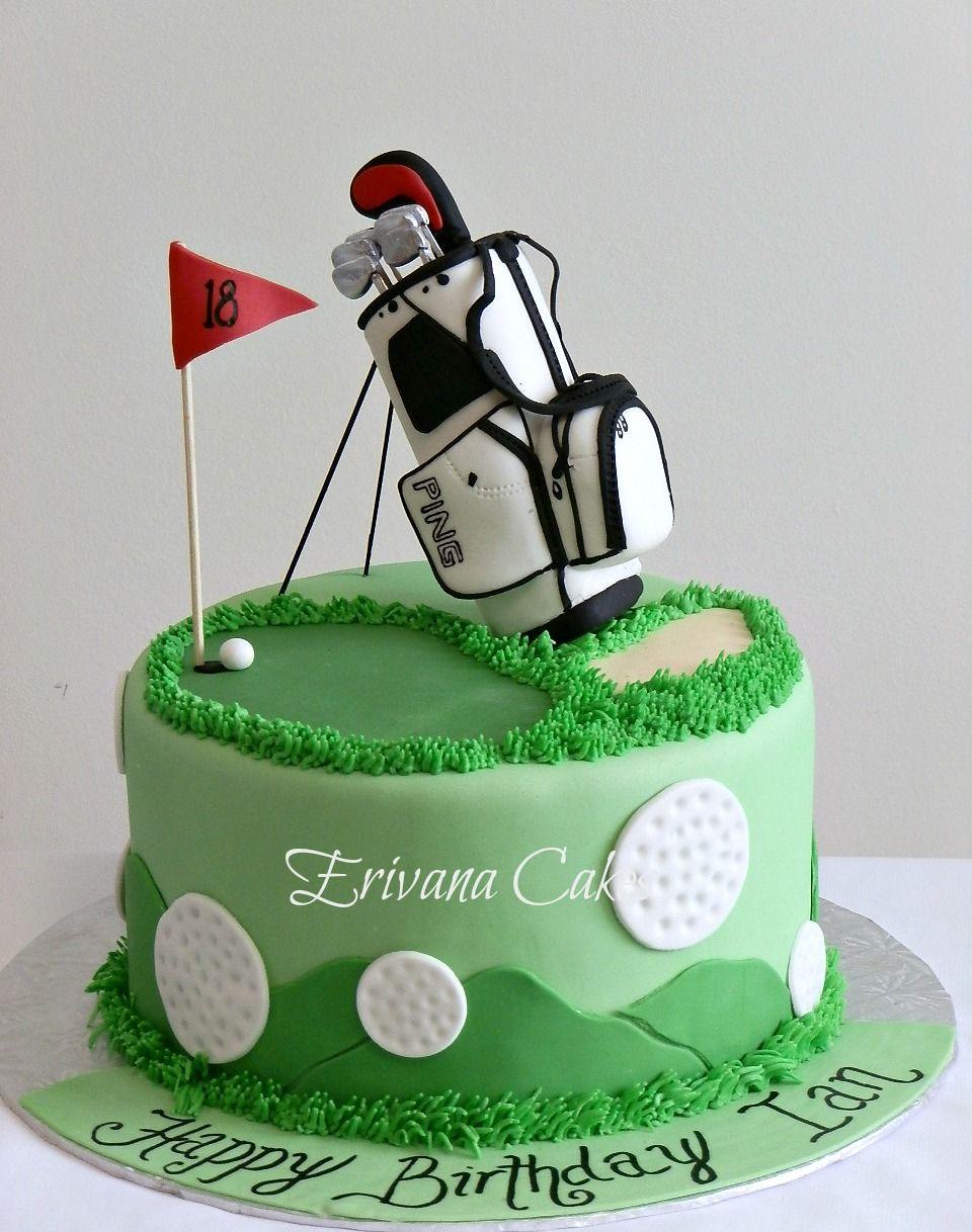Peachy Golf Themed Cake Golf Birthday Cakes Golf Themed Cakes Themed Birthday Cards Printable Opercafe Filternl