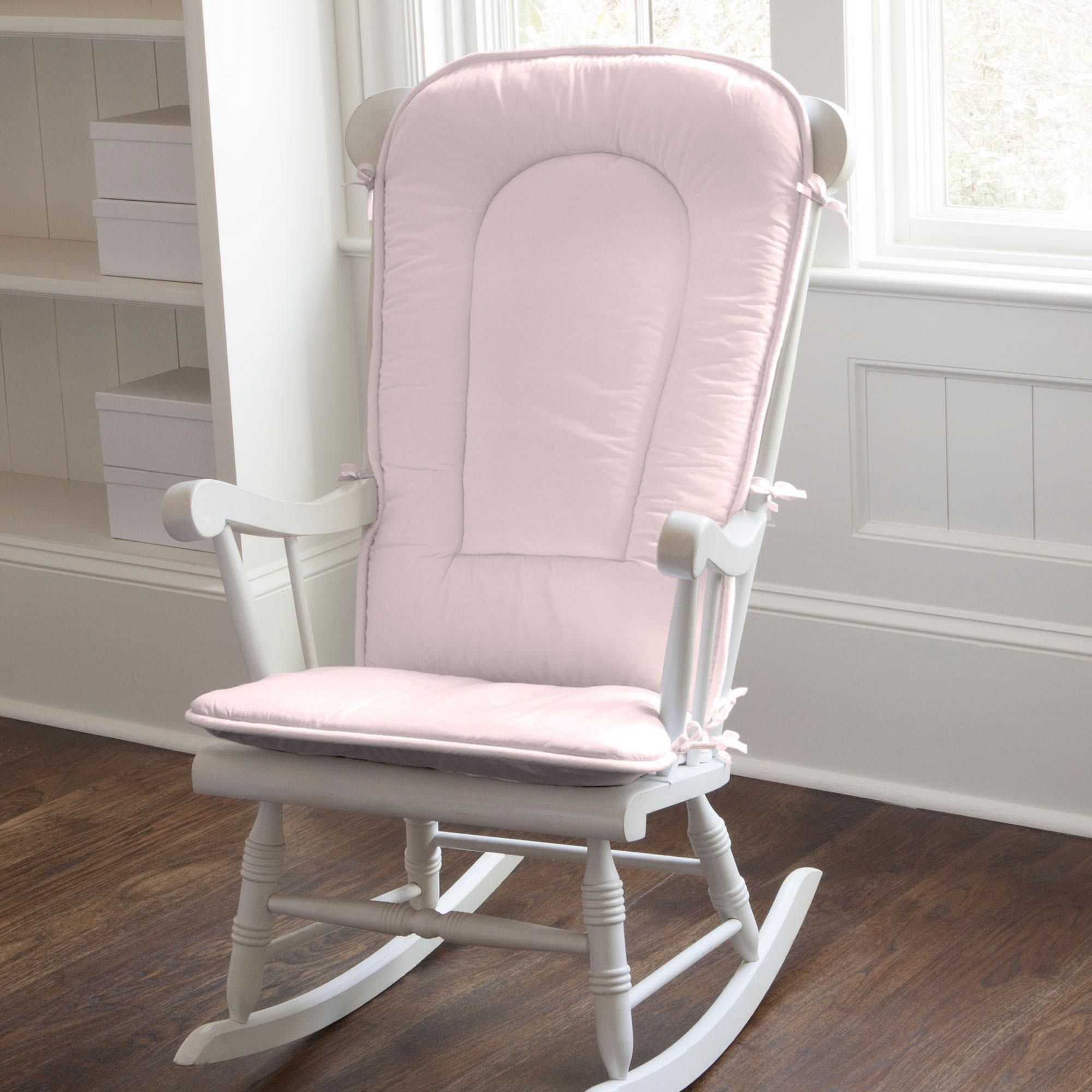 Superieur Solid Pink Rocking Chair Pad