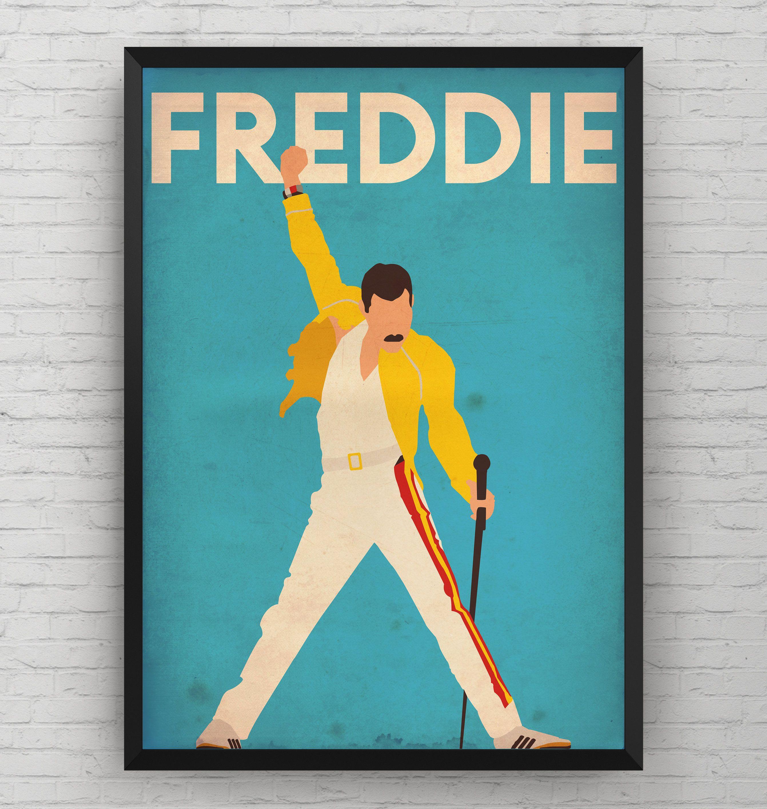 Fred Mercury Poster Fred Mercury Print Queen Dorm Art