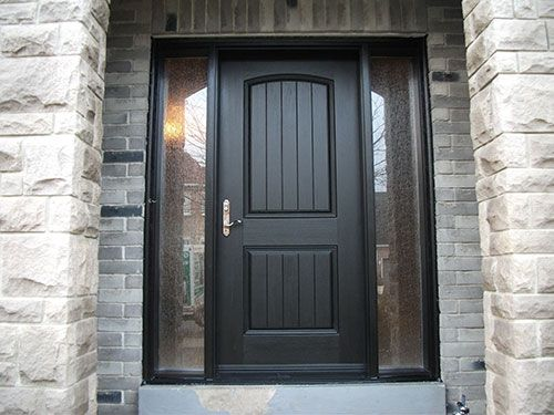 rustic doors after installation fiberglass rustic single exterior - Single Exterior Doors