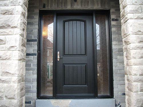 Elegant Rustic Doors After Installation U2013 Fiberglass Rustic Single Exterior .