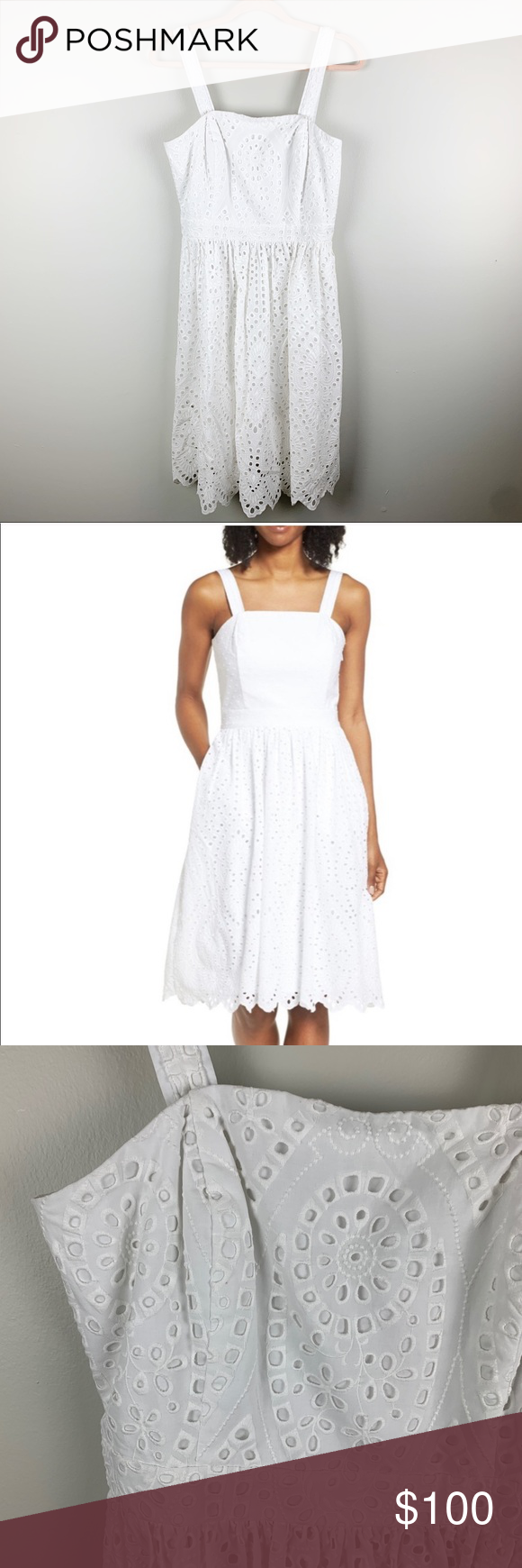 Vineyard Vines Convertible Eyelet Midi Dress White Vineyard Vines New With Tags Convertible Eyelet Midi White Midi Dress Party Dress Classy Casual Party Outfit [ 1740 x 580 Pixel ]