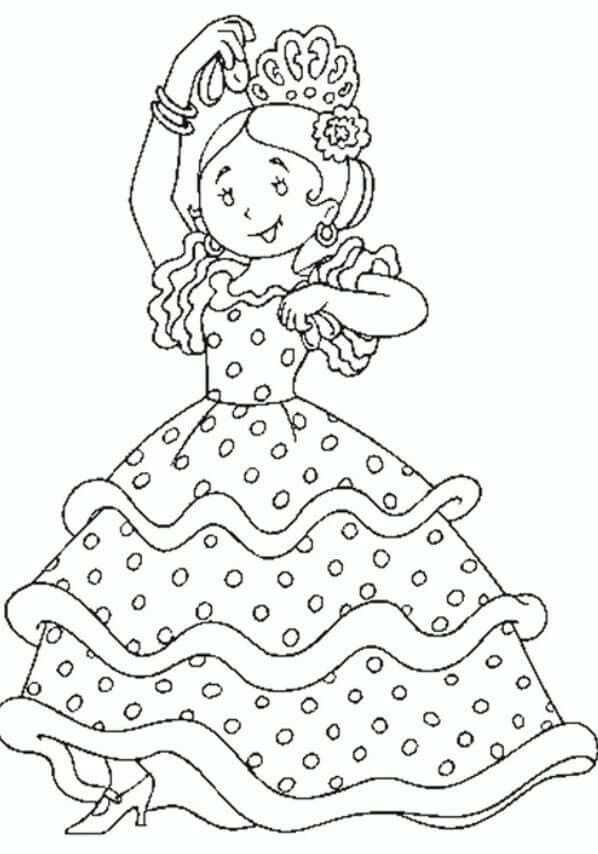 Dibujo flamenca   Diagramas, patrones, dibujos, contornos ...