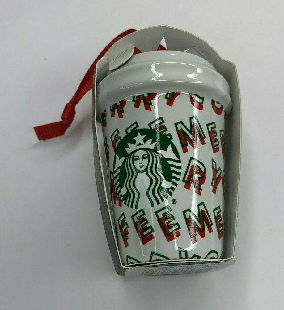 2020  Ornament Christmas Vacation 2019 Starbucks 2019 Holiday MERRY COFFEE Mini Cup Tumbler Christmas