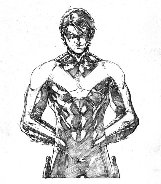 Nightwing - Brett Booth | Nightwing | Pinterest | Para dibujar ...