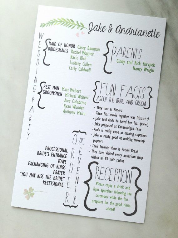 looking for a chic new look to wedding programs customize this